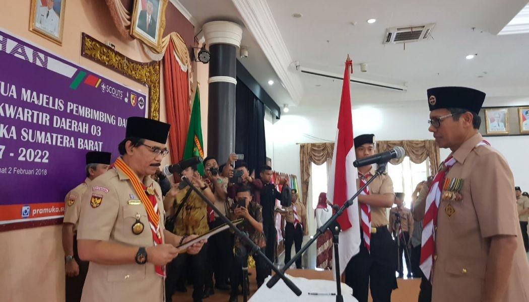 Kak Adhyaksa Dault Lantik Gubernur Sumatera Barat Jadi Ketua Mabida Gerakan Pramuka