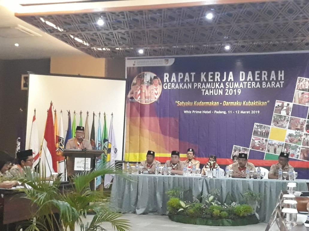 Ketua  Kwarda Resmi Buka Rapat Kerja Daerah Kwartir Daerah 03 Sumatera Barat Tahun 2019