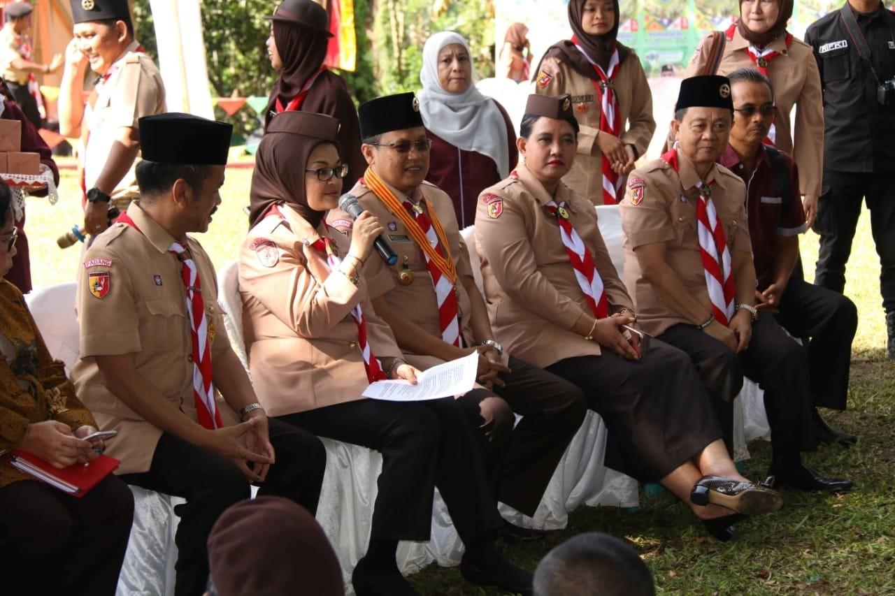 Dari Perkemahan Gerapkota 2018 kerjasama Kwarda Sumbar dengan BBPOM di Padang Penny Lukito Akomodir