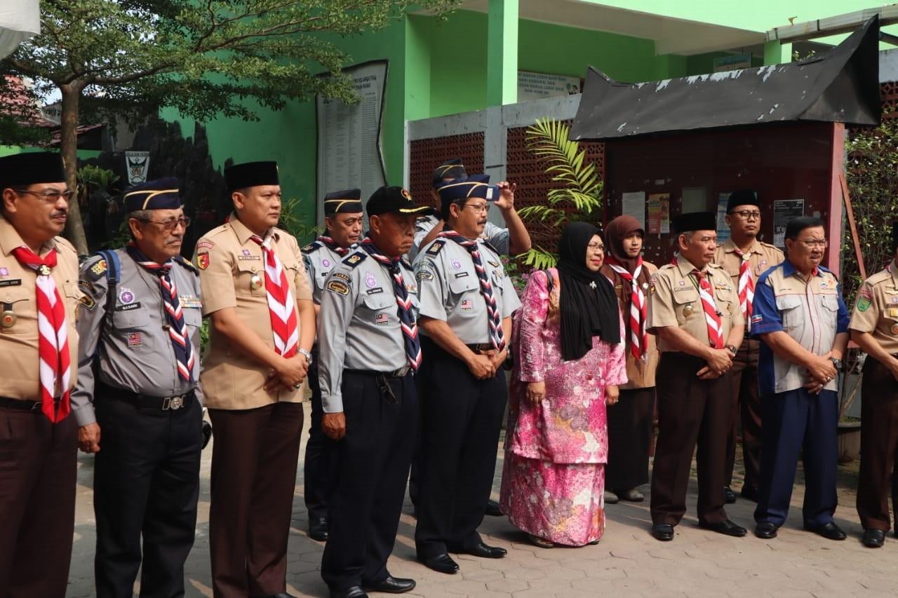 Kwarda 03 Sumbar bersama Kwarnas dan Pengakap Negeri Malaysia Lakukan Kunjungan