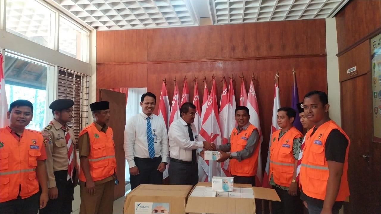 Bank Nagari bersama Kwarda 03 Sumbar Distribusikan 10000 Masker